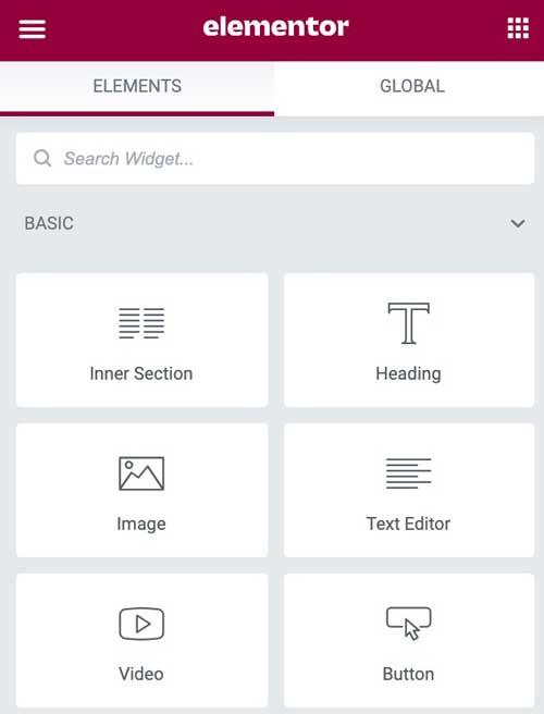 elementor page builder